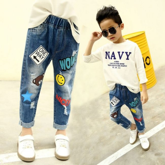 3,9 years BABY SUMMER NEW JEANS FOR CHILDREN