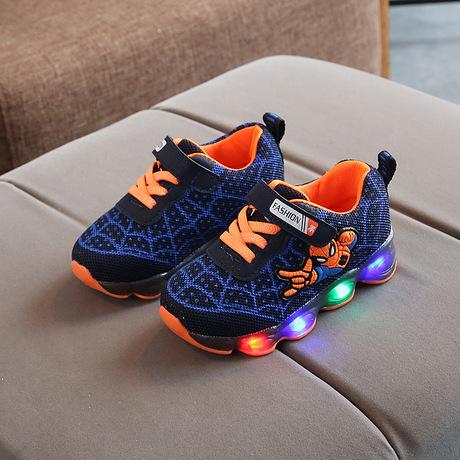 BLUE Spiderman full LED Stylish shoes